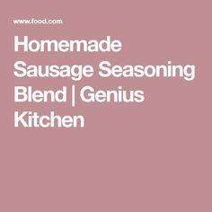 Homemade Sausage Seasoning Blend   Genius Kitchen