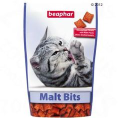The crispy-crunchy cat snack with important malt paste that supports the natural passage of swallowed hairs, no sugar. Malta, Cat Treats, Tropical Fish, Snack, Pet Supplies, Pets, Animals, Pet Food, Furniture
