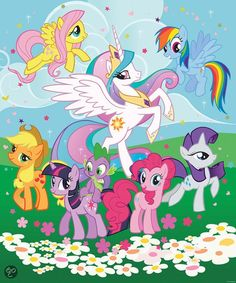 Posterbehang Walltastic my little pony