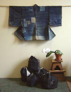 A Boro Sakiori Noragi: Indigo Rags and Patches   Sri Threads