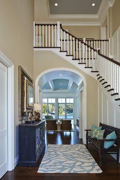 coastal foyer | Lisa Publicover Interior Design | Brantley Photography