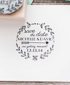 Custom Save the Date Rubber Stamp Wedding by RedCloudBoutique