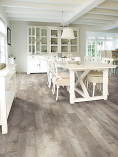 Paint Furniture, Laminate Flooring, Cribs, Bedroom Decor, Dining Table, Remodeling Ideas, Floors, Ranch, Barn