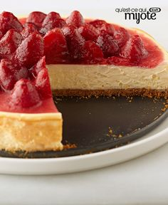 Everybody loves cheesecake, so here's a classic cheesecake recipe to try! Ready to bake in just 20 minutes, this luscious graham-crumb-crusted cheesecake is topped with strawberries just before serving. Kraft Recipes, Cheesecake Recipes, Dessert Recipes, Strawberry Topping, Classic Cheesecake, What To Cook, Cheesecakes, Cupcake Cakes, Cupcakes