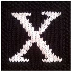 PDF Knitting pattern capital letter X afghan / blanket square - instant download after purchase         October 15, 2014 at 06:58AM