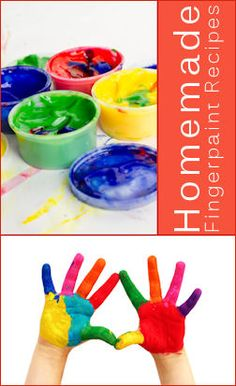 10 Homemade Playdough & 5 Fingerpaint Recipes