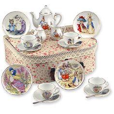 Beatrix Potter Tea Set Peter Rabbit & Friends By Reutter Porcelain - Medium Reutter Porcelain