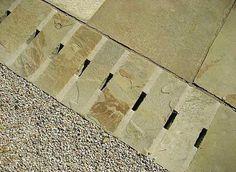 Portland, Oregon-based landscape architect Karen Ford created a pathway with drainage grates cut into the grout between paving stones. Post: 5 Favorites: Modern Pavers via Gardenista Landscape Elements, Landscape Design, Garden Design, Landscape Plans, Contemporary Landscape, Garden Floor, Rain Garden, Outdoor Landscaping, Outdoor Gardens