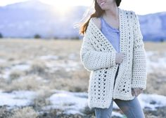 Light Snow Oversized Cardigan Crochet Free Pattern – Mama In A Stitch Crochet Cardigan Pattern, Crochet Jacket, Sweater Knitting Patterns, Crochet Patterns, Crochet Ideas, Easy Crochet, Free Crochet, Crochet Tops, Crochet Sweaters
