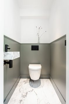 Baubeispiele - Bäder Beautiful Silk Flowers Article Body: Nothing is as refreshing as having a fresh Small Downstairs Toilet, Small Toilet Room, Downstairs Cloakroom, Small Bathroom, Bad Inspiration, Bathroom Inspiration, Bathroom Inspo, Toilet Room Decor, Bathroom Under Stairs