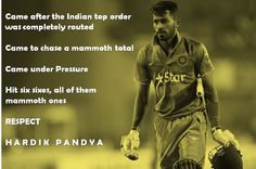 This is player who never faced pressure and play his own Game. True Respect to Hardik Pandya. Like And Share for the man…. Indian Tops, Under Pressure, The Man, Respect, Crowns