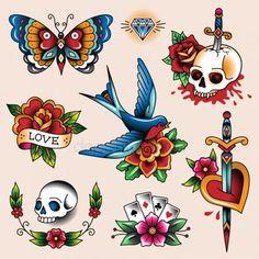 Colección de tatuajes Gráficos Vectoriales