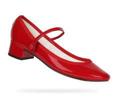 Rose Mary Jane Flammy red Patent leather