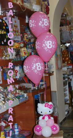 Centerpiece Hello Kitty 18 Th Pink