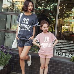 >> Click to Buy << 2 pieces/set In Stock Family look lovely Bohemia T-shirts+Shorts suits summer cotton sets matching mother and daughter clothes #Affiliate