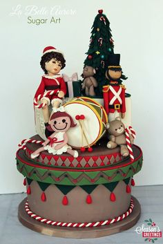 Christmas Cake - by LaBelleAurore @ CakesDecor.com - cake decorating website