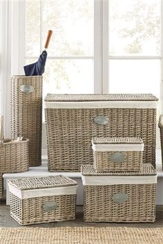 Buy Natural Willow Weave Trunks Set Of 3 from the Next UK online shop