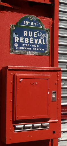 La rue Rébeval (Paris 19ème)
