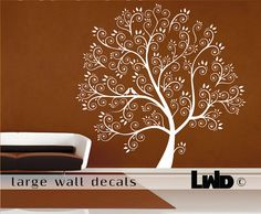 Tree Home Decor - Large Tree Wall Decal on Etsy, $141.00