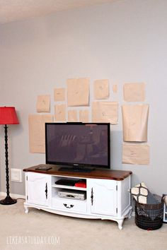 How to Hang a Gallery Wall around the TV | Like a Saturday