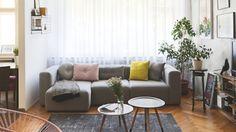 Proměna obýváku: Kouzlo betonové stěrky