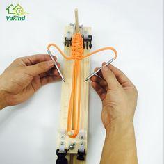 DIY plantilla de madera maciza paracord pulsera hacedor knitting herramienta Nudo Trenzado Pulsera de cordón de paracaídas Herramientas de Tejer(China (Mainland))