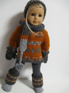 American Girl Doll Clothes FallSweaters by 123MULBERRYSTREET