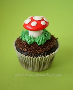 Enchanted Forest Cupcakes... gnome toadstool woodland forest party