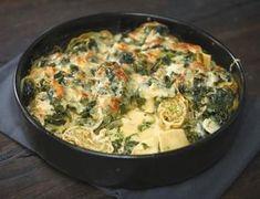 Maultaschen-Spinat-Auflauf Rezept Ravioli and spinach bake Veggie Recipes, Pasta Recipes, Vegetarian Recipes, Dinner Recipes, Cooking Recipes, Healthy Recipes, Snacks Recipes, Spinach Bake, Spinach Casserole