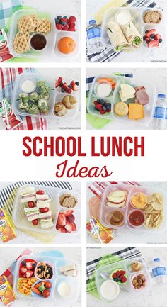 School Lunch Ideas | A month of easy school lunch ideas for kids. Simple kid approved lunches that will ease the pain of going back to school. #SchoolLunch #SchoolLunchIdeas #BackToSchool #SimpleLunch