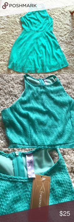 NWT Francesca's dress NWT Francesca's dress. Size large. Mint color with a texture. (as shown in pictures). Perfect condition Francesca's Collections Dresses