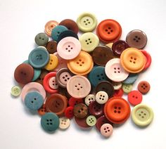 Like the splashes of bold colors in this button color pallete.