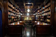 a library in a L.A. bar ~ wow!