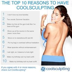 Top 10 Reason to have Coolsculpting