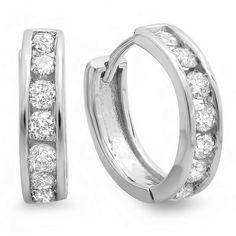 0.50 Carat (ctw) 14K White Gold Round Cut Diamond Ladies Mens Unisex Huggie Hoop Earrings 1/2 CT DazzlingRock Collection http://www.amazon.com/dp/B00L7FH95Q/ref=cm_sw_r_pi_dp_osSVub1FP6HSD