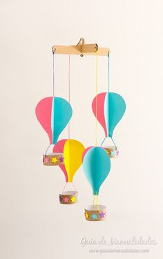 Mobil with balloons with their own hands Cool Paper Crafts, Diy And Crafts, Arts And Crafts, Diy For Kids, Crafts For Kids, Power Colors, Creation Deco, Idee Diy, Birthday Balloons