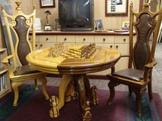 chess table, chairs & set