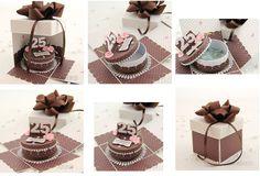 Exploding Box - 25th Anniversary | Scrapbooking tutorial Birthday cake