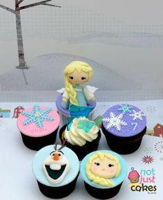Disney's Frozen cupcake toppers - Elsa, Olaf