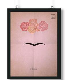 Pôster/Quadro minimalista Frida