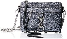 Rebecca Minkoff Micro Mac Cross Body Bag, Silver - http://www.womansindex.com/rebecca-minkoff-micro-mac-cross-body-bag-silver/
