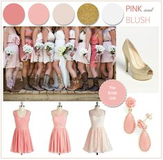 Blush and Pink Bridesmaid Dresses | http://www.thebridelink.com/blog/2013/06/24/pink-bridesmaid-inspiration/