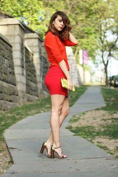 Super cute color-blocked look from fashionbananas.com!