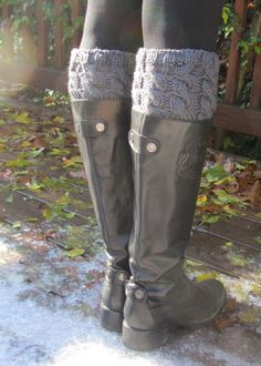 Just ordered this boot cuff pattern for my mom to knit me a bunch of these in different colors. Very happy she has a 3 day train ride home from BC in a week. She'll get these made! :-) Love that my mom can knit. PATTERN - Cabled Boot Cuffs and Legwarmers - Knitted - DIY. $5.00, via Etsy.