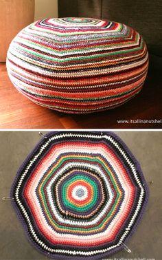 Stripey Pouf – Free Crochet Pattern