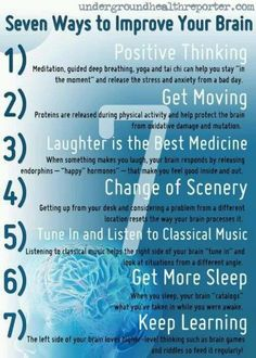 We expect so much from our bodies so let us take better care of it. Below are some ways that you can improve and preserve your brain functioning. The healthier your brain and body are the greater chance you have against disease and ill health. Stress Yoga, Stress And Anxiety, Healthy Brain, Brain Health, Mental Health, Brain Nutrition, Brain Facts, Traumatic Brain Injury, Your Brain