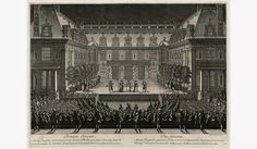 """Les collections – Château de Versailles - Fêtes de 1674, première journée : """"Alceste"""", tragédie en musique ornée d'entrées de ballet, représentée à Versailles dans la cour de marbre du Château éclairé depuis le haut jusqu'en bas d'une infinité de lumières"""