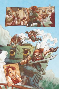 Pencils: Matteo Aversano/ Colors: Alessi Page for a Pirates Steampunk Project ©Aversano Comics COLORS on Behance