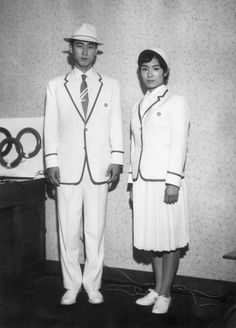 The Japanese Olympic team's travel uniform, 1960.