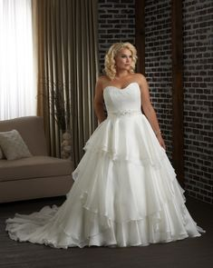 Simple Wedding Dress, Fabulous Lace & Organza Satin & Satin Sweetheart Neckline Natural Waistline Ball Gown Plus Size Wedding Dress, Shop fit and flare dresses that match your bridal style featuring the latests trends. Find the perfect one for you! Wedding Dresses Under 100, Plus Size Wedding Gowns, Perfect Wedding Dress, Cheap Wedding Dress, Wedding Dress Styles, Gown Wedding, Casual Wedding, Backless Wedding, Mariage
